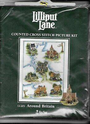 Anchor Lilliput Lane Counted Cross Stitch Kit Around Britain LL203 Sealed New