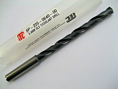 6.4mm SOLID CARBIDE X/LS DRILL THROUGH COOLANT COATED  ITC SP-225-0640-00  P243