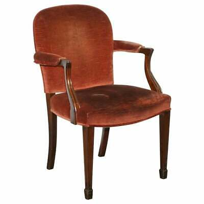Rare Antique Victorian J.brand Stamped Armchair Horse Hair Filled Coil Sprung