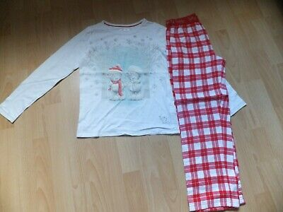 Girls long sleeved and long legged Tatty Teddy PJs.  Age 9-10 years.  From M&S.