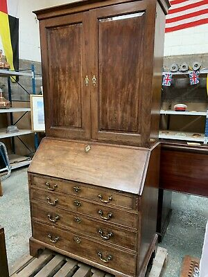 George 11 Blind Bureau Bookcase Cuban Mahogany 1740