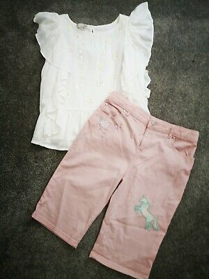 Monsoon Summer Outfit Girls 12-13 top and shorts never worn