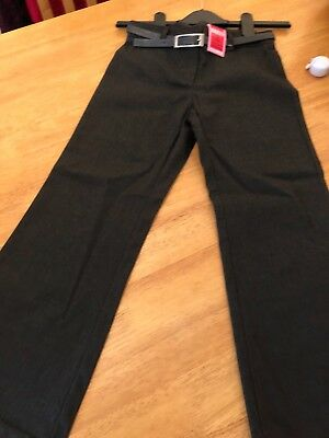 BNWT * M & S* Girls Grey Belted trousers  aged 10 Years