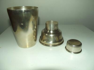 Vintage Mappin & Webb 1930's 40's Art Deco style silver plated cocktail shaker