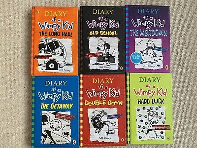 Diary of a Wimpy Kid Collection Of 6 Hardback Books