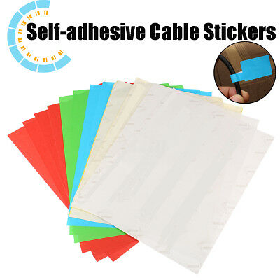 300x Self-adhesive Cable Labels Identification Marker Tags Sticker Waterproof