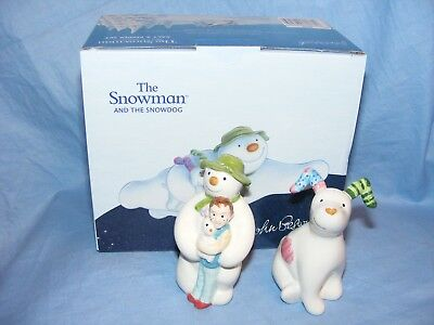 John Beswick The Snowman And Snowdog Salt And Pepper Pots JBS30 Raymond Briggs