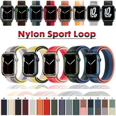 Nylon Sports Loop iWatch Band Strap for 38/42/40/44mm Apple Watch Series 5 4 3 2