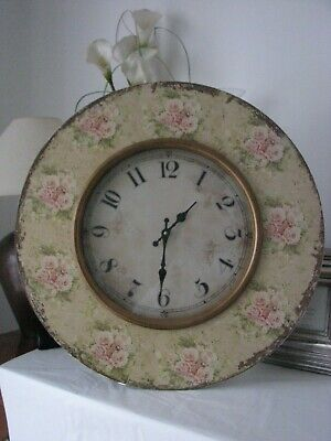 Huge!!! Antique French Country Style Floral Mdf Wall Clock!!! Homesense!!!