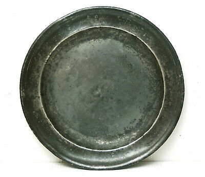 "WELL MARKED c1700 9"" PEWTER PLATE RICHARD BOYDEN CAMBRIDGE"