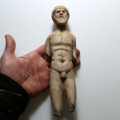 Extremely Rare-Huge Roman Marble Male Statue Circa 100-400 Ad