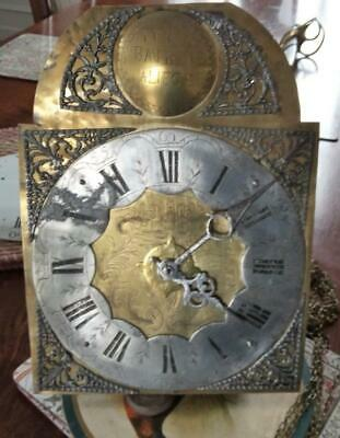 Complete Antique 18th Century 30-Hr Birdcage Clock Movement. Chain, Weight incl