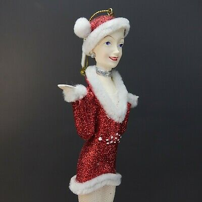 "Vintage 2007 Kurt Adler Radio City Rockettes Dancing Girl 9"" Christmas Ornament"