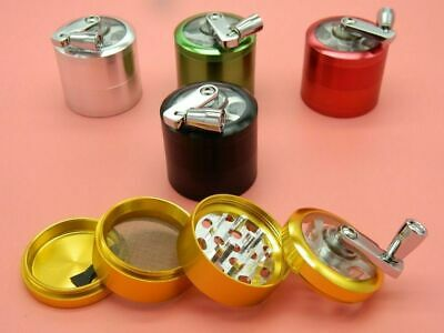 1x40,50,60mm 4 Part Metal Herb Magnetic Grinder With Handle UK SUPPLIER