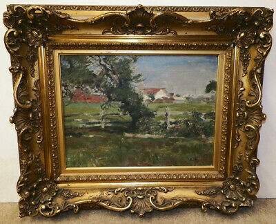 Antique early 20th Century oil on canvas by Elsie M. Fuhr