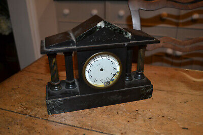 small slate and marble 8 day clock spares/repair