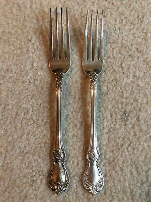 2 Towle Sterling Silver OLD MASTER DINNER FORKS NO MONO