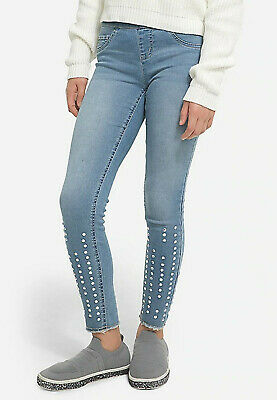 Jeweled Pull On Jean Leggings by JUSTICE Girls Size 7 NWT