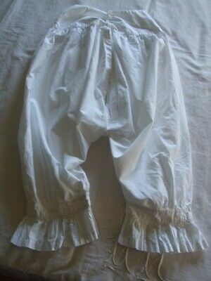 Antique White Cotton  Split Leg Pantalette Bloomers