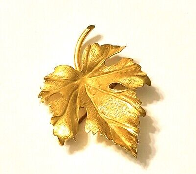 Antique Signed TIFFANY & CO. 14K LEAF BROOCH/PIN Circa 1960