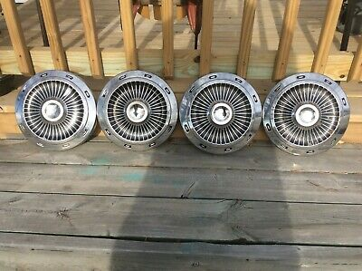 1963 ford galaxie dogdish 427 poverty hubcaps galaxie 500  set of 4