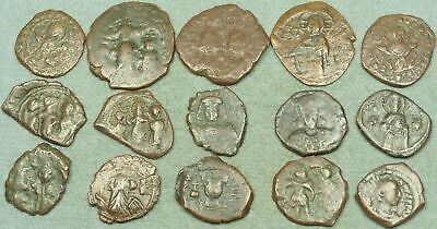 Lot Of 15 Large Byzantine Bronze Coins