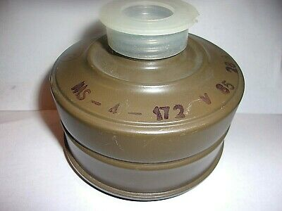 GAS MASK REPLACEMENT FILTER FOR GP-5-6-7,PMG types/ NEVER USED OR ISSUED