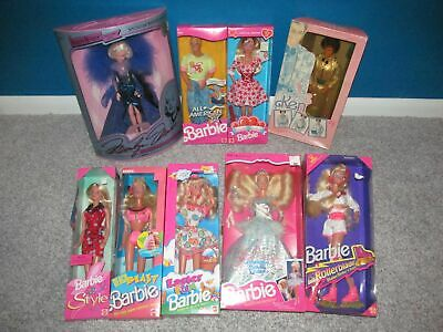 Vintage Barbie LOT 9 Limited Special Edition 1980s 1990s Holiday Anniversary NIB