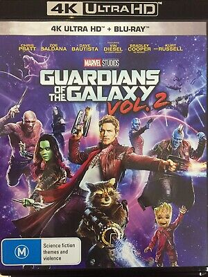GUARDIANS OF THE GALAXY Vol 2 - 4K BLURAY + BLURAY 2017 AS NEW!