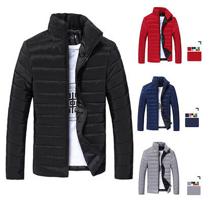 Men's Winter Puffer Bubble Coat Quilted Padded Jacket Zipper Outwear New 202 NT
