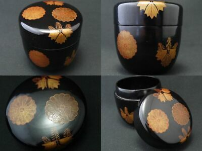 Japanese Antique Lacquer Wooden Tea caddy KOUDAI-JI makie Natsume (1009)