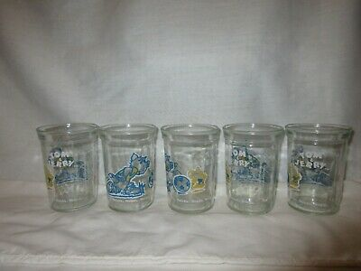 5 Vintage Welch's 1991 Tom & Jerry Turner Entertainment Co Jelly Jar Glasses