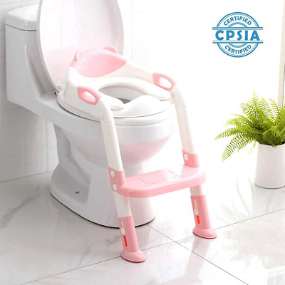 711TEK Potty Training Seat Toddler Toilet Seat with Step Stool Ladder,Potty for