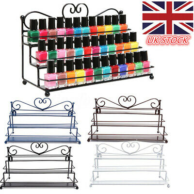 3 Tier Metal Nail Polish Shelf Display Wall Mounted Varnish Rack Holder 4