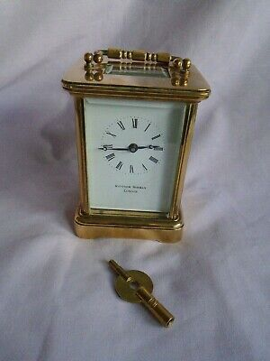 Vintage Matthew Norman (3) 8 Day Timepiece Carriage Clock In Good Working Order