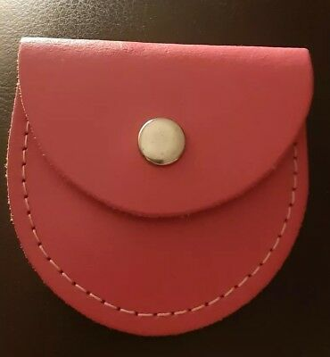 New Genuine Real Leather Pink Coin Purse. School Dinner Money Purse.