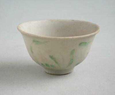 Rare Chinese Ming Dynasty Enamelled Monochrome Porcelain Wine Cup