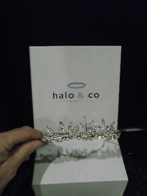 Halo & Co Crystal bridal Tiara