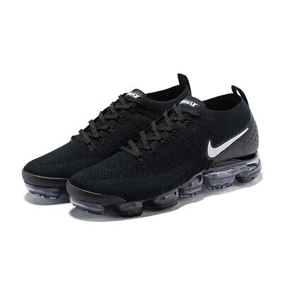 NIKE AIR VAPORMAX FLYKNIT 2.0 Black/White Men's Running Shoes 942842