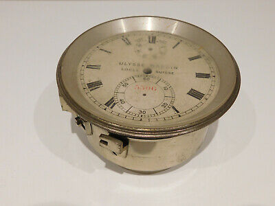 Antique Fusee Detent Marine Chronometer Clock Dial By Ulysse Nardin. Plus A Case
