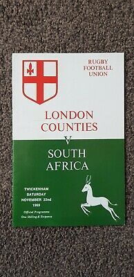 London Counties v South Africa 22nd nov 1969 Rugby Union Programme, Twickenham