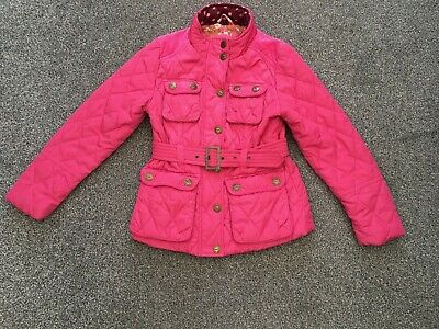 Girls Next Winter Coat Jacket Bright Pink Age 7-8 Years Great Condition