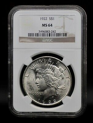 1922 NGC MS64 Peace Silver Dollar [129DUD]