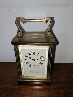 MAPPIN AND WEBB LTD,  BRASS CARRIAGE CLOCK, Working