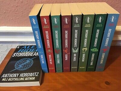 Alex Rider Collection 9 Book Set Pack Anthony Horowitz Spy Children
