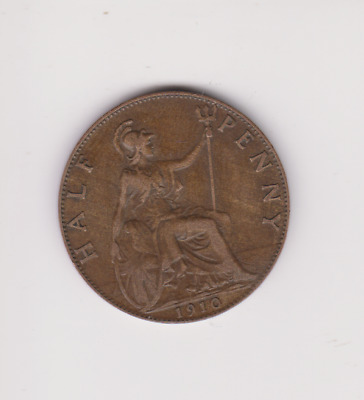 Edward VII. Halfpenny, 1910.GOOD GRADE 1917 . P.193