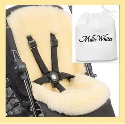 Beautiful Luxurious Sheepskin Liners For Prams Car Seats Stunning And Soft