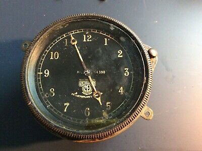 Vintage pre-war smiths car clock. Believed to be electric. Not tested. No 54398