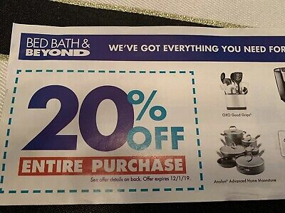 Bed Bath & and Beyond 20% Off Entire Purchase coupon Expires 2/11/2020