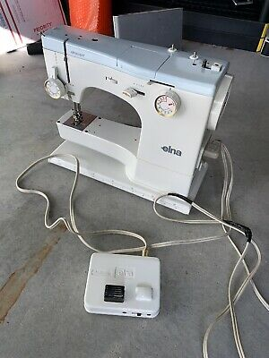 Vintage Elna SU 62C sewing machine And Pedal Only Defective Sold As Is Runs Slow